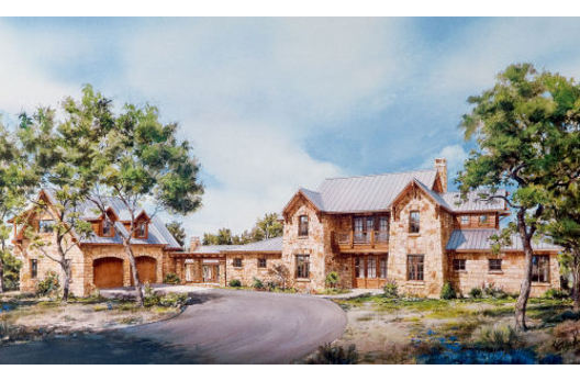 Country Style House Plan 2 Beds 2 5 Baths 3163 Sq Ft Plan 140 102 Country Style House Plans Hill Country Homes Stone House Plans