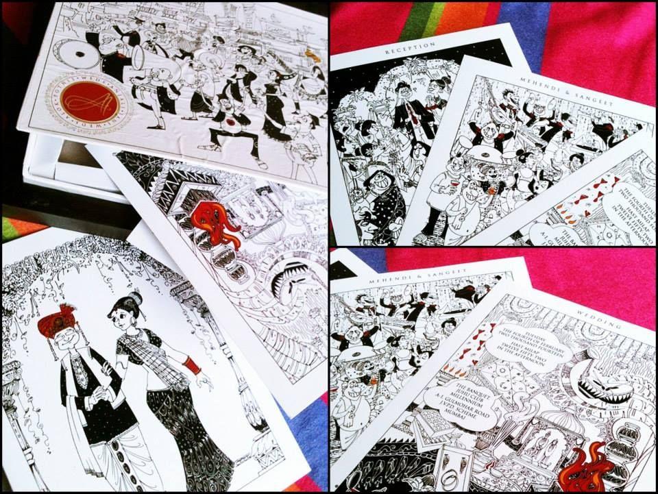 A black, white & red invite by Anjali Jani | Wedding Invitation ...