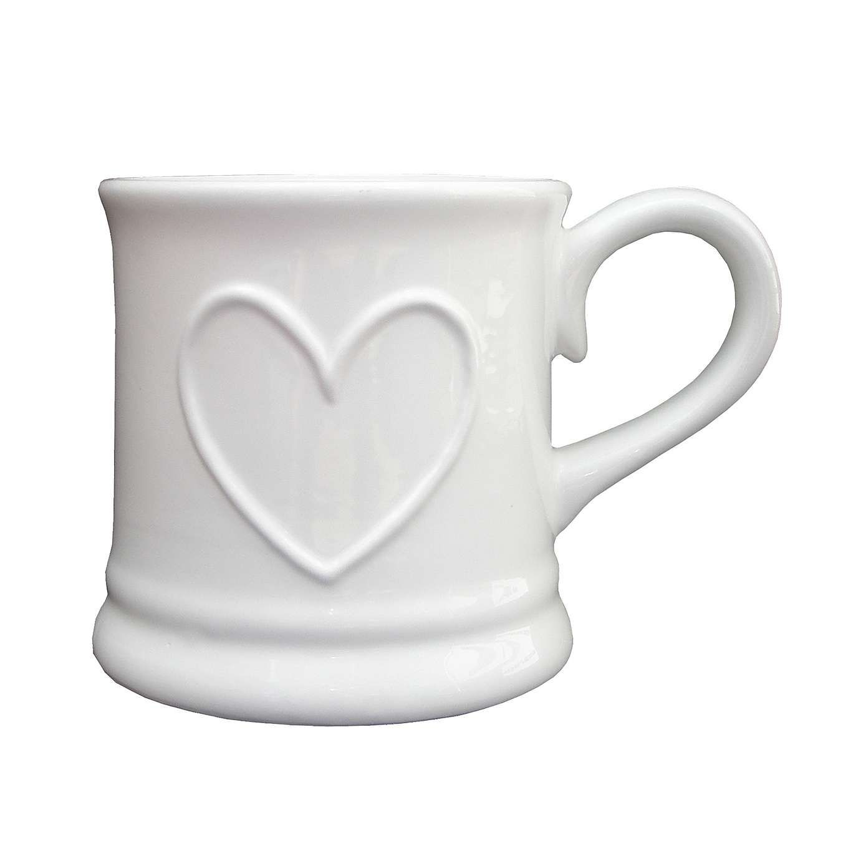 Country white heart tankard mug dunelm mugs tankard