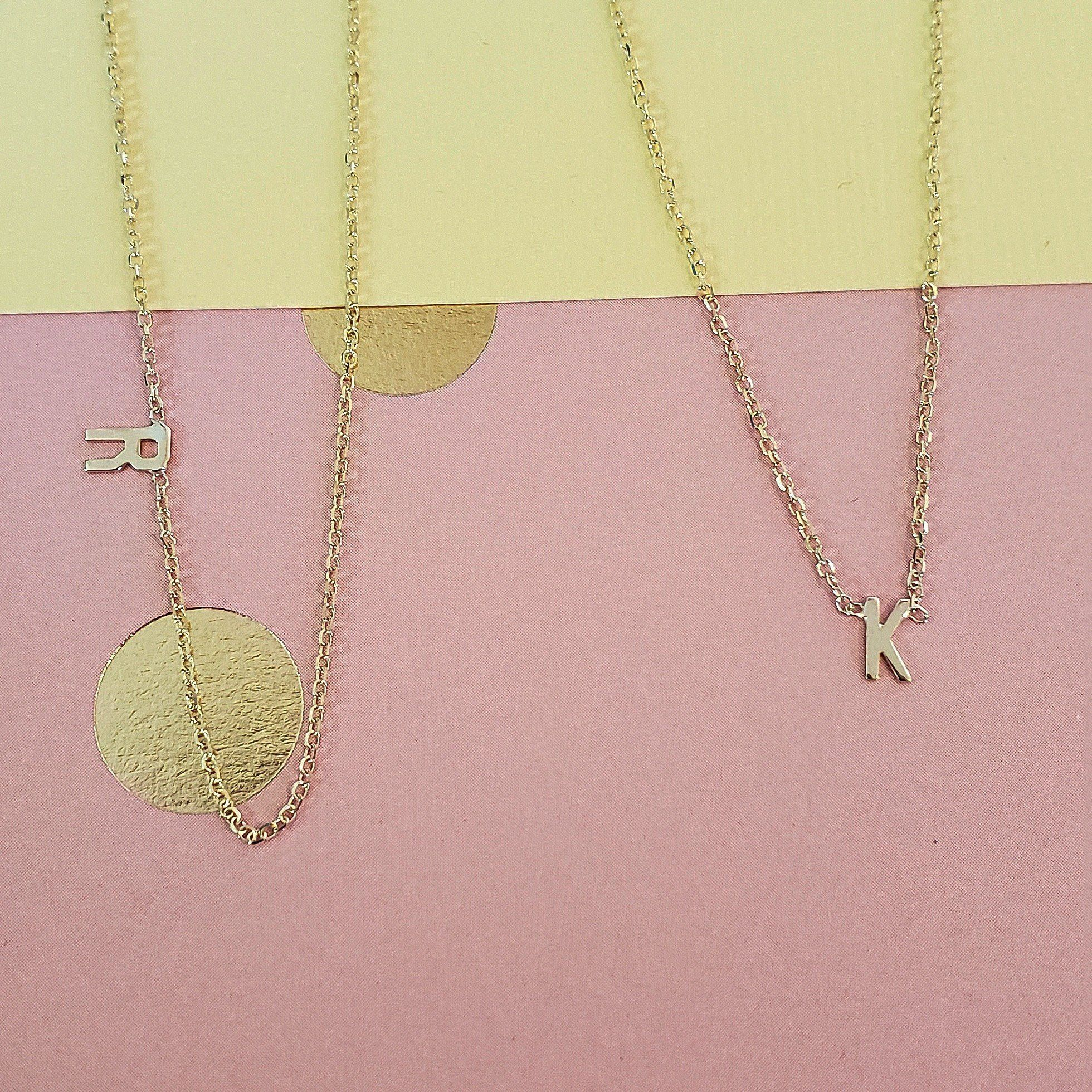 Gold Initial Necklace 10k Family Necklace Initial Necklace Dainty Initial Necklace Letter Necklace Gold Initial Necklace Initial Jewelry Gold Letter Necklace Letter Necklace Monogram Necklace Gold