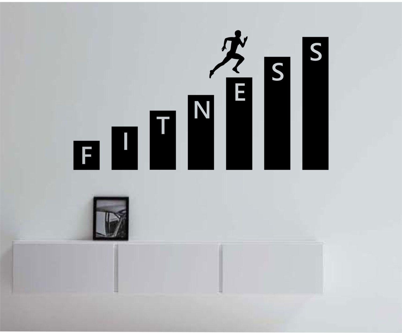 Fitness Gym Wall Decal Vinyl Sticker Art Decor Bedroom Design Mural  Interior Design Healthy Lifestyle Health Part 88