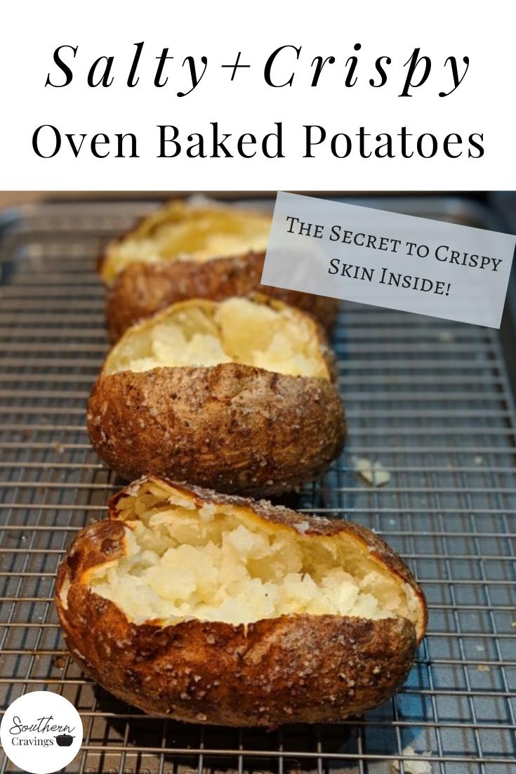 Crispy Baked Potatoes Recipe Crispy Baked Potatoes Baking Baked Potato Recipes
