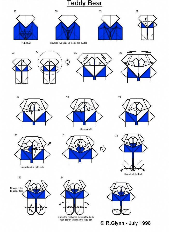 cute teddy bear origami paper method ms origami