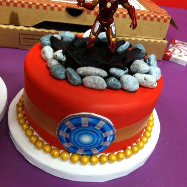Ironman Cake Make rock candy to bust through Jacksons birthday