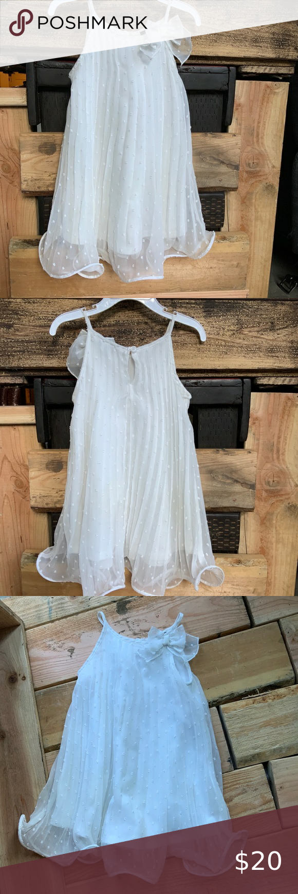 Zunie 3t White Sleeveless Dress White Sleeveless Dress Girls Dresses Size 12 Girls Casual Dresses [ 1740 x 580 Pixel ]