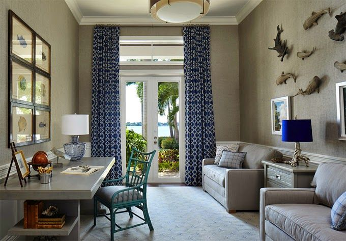 Inspired by the sky and river just outside, this incredible Tequesta, Florida home designed by Jackie Armour of JMA Interior Decoration, Inc. and photographed by Robert Brantley is filled to the br…