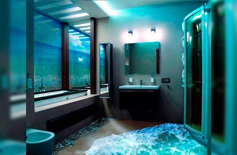 Suelos de cuartos de baño en 3D | Banium.com | Pisos para ...