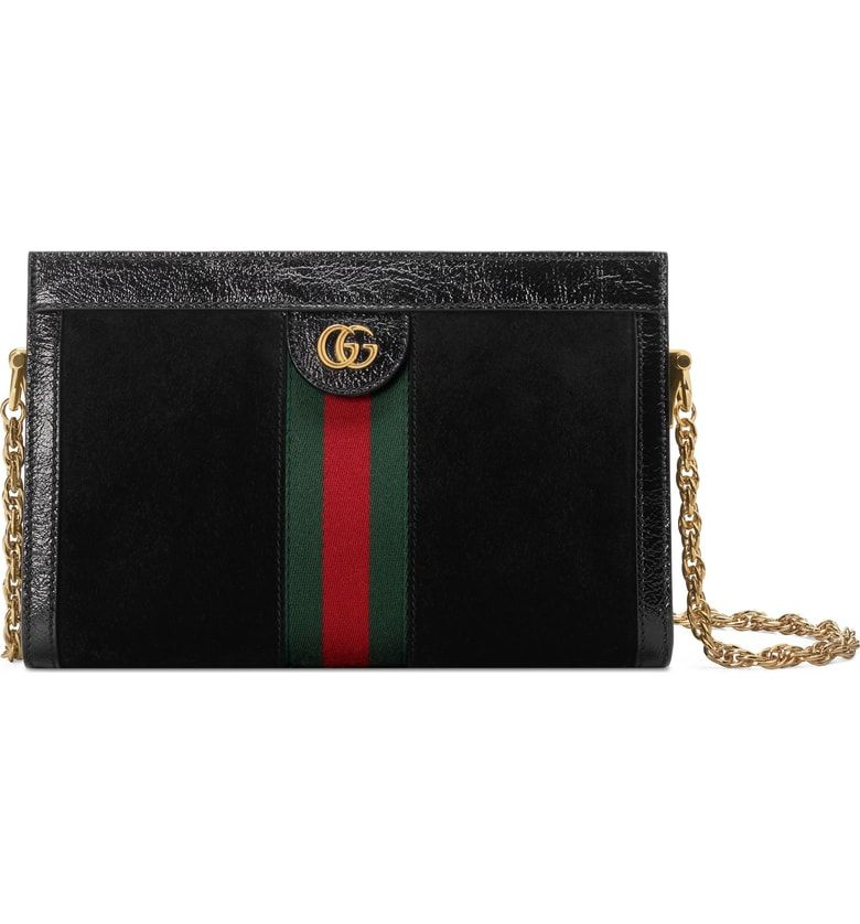 e7558b708b0e Free shipping and returns on Gucci Small Linea Chain Shoulder Bag at  Nordstrom.com. Signature Gucci Web stripes and iconic double-G hardware  distinguish a ...