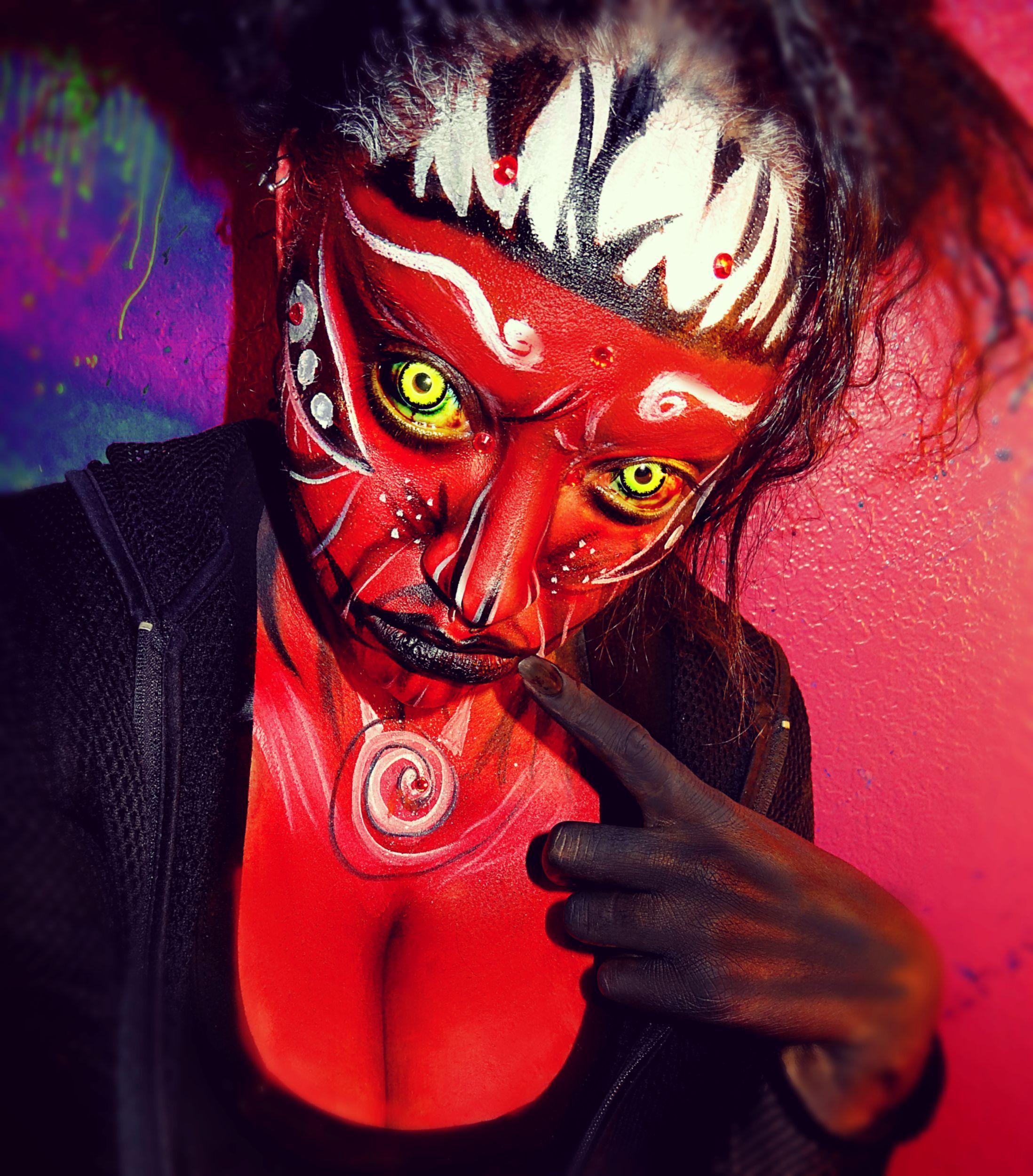 Asha, Lady Krampus-Character make up