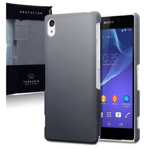 big sale 30b3e 15a22 Solid Grey Hard Rubber Back Cover Case for Sony Xperia Z2 | Stylish ...