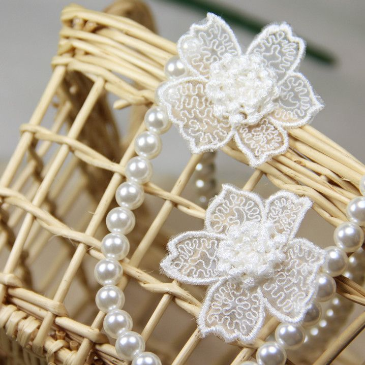 20 pcs/lot Free Shipping LA215 New arrival hot-selling Sew-on Multi-layer Organza Lace Decoration Wedding Flower Applique Patch
