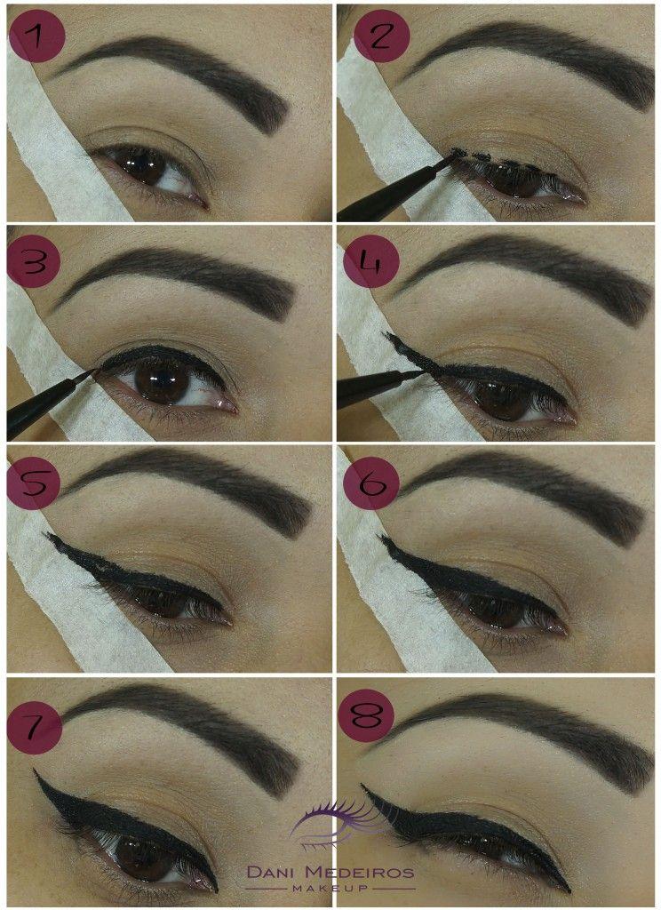 Como Fazer Delineado Gatinho Passo A Passo Makeup Maquiagem
