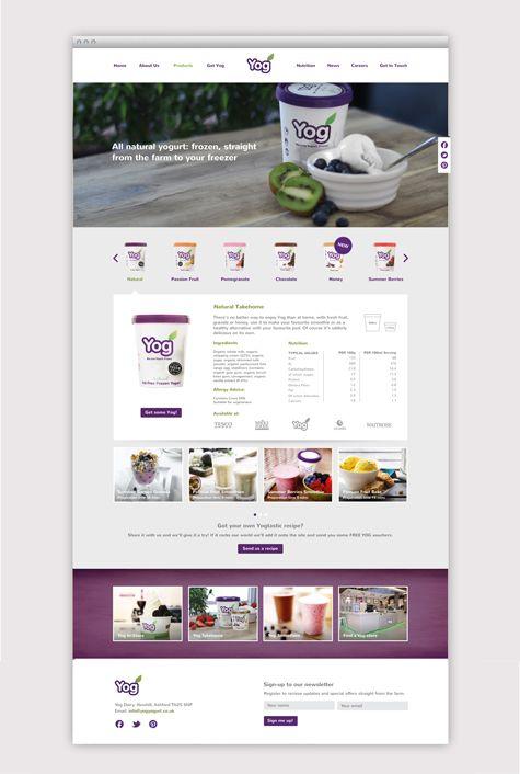 Yog Yoghurt Responsive Website Long Story Short Responsive Web Design Yog