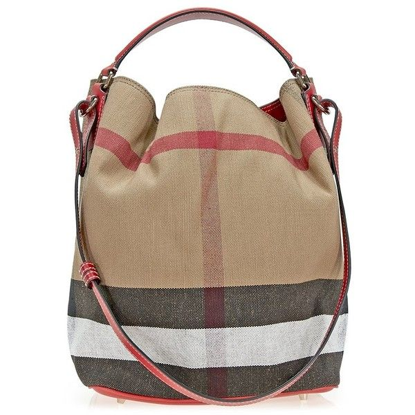 825aa255a9c7 Burberry The Ashby Medium Canvas Check Tote - Cadmium Red (1