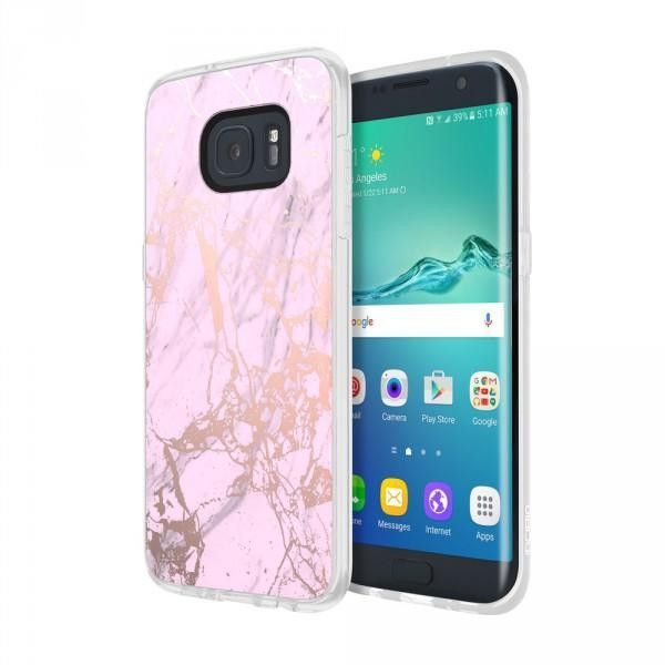 Incipio Galaxy S7 Edge Design Series Case Marble Pink Rose Gold Galaxis Handy Mobilee