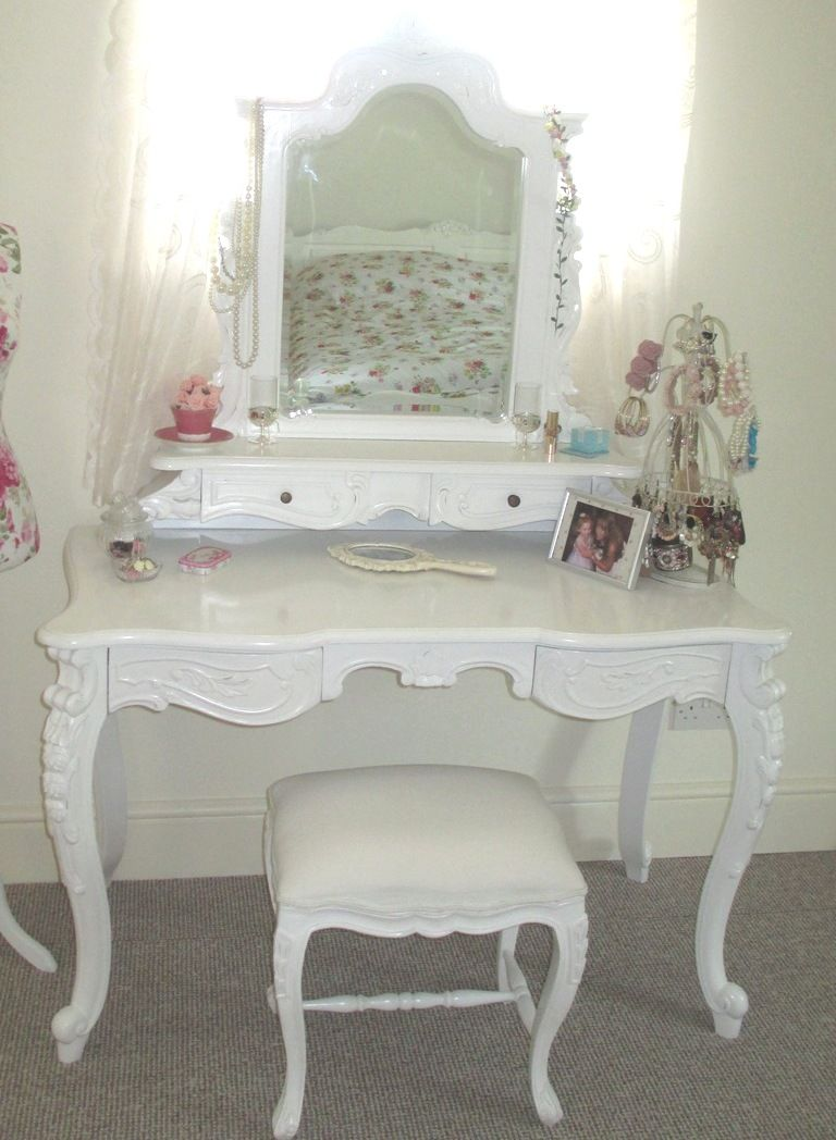 White shabby chic dressing table see other images and videos about white shabby chic dressing table see other images and videos about shabby chic at coastersfurniture geotapseo Choice Image