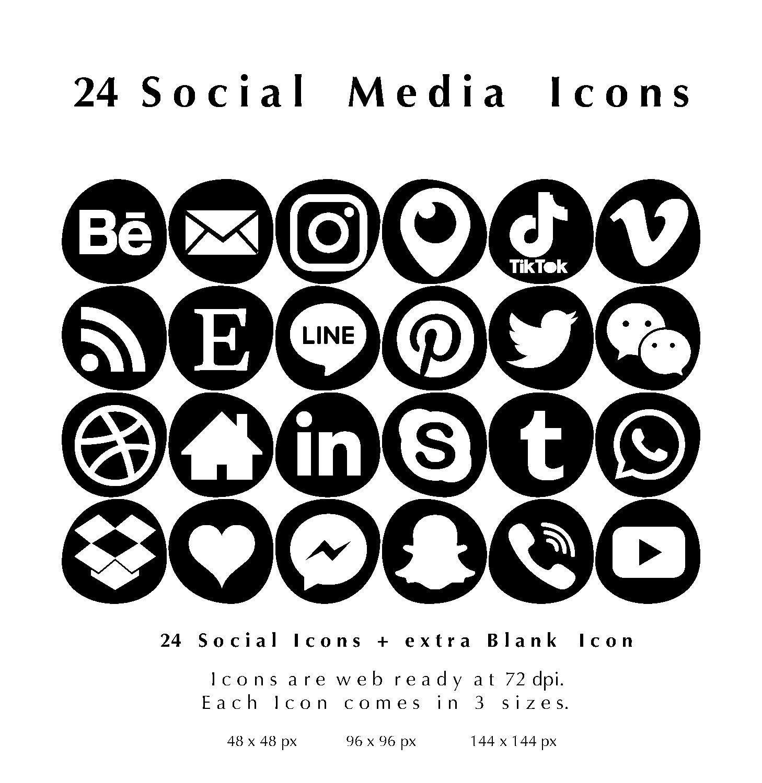 24 White on Black Irregular Bleb Shapes Web & Blog