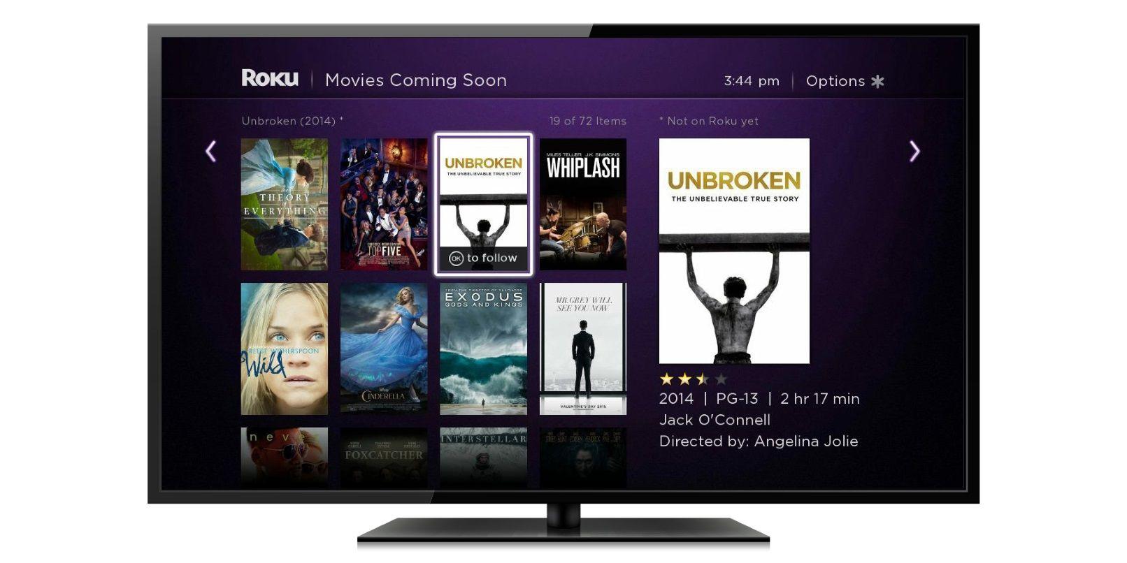 Roku TV UI