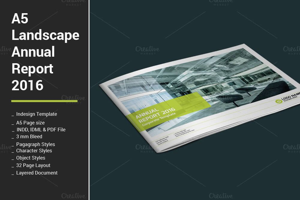 Annual Report by artico on @creativemarket Brochure Design - report template