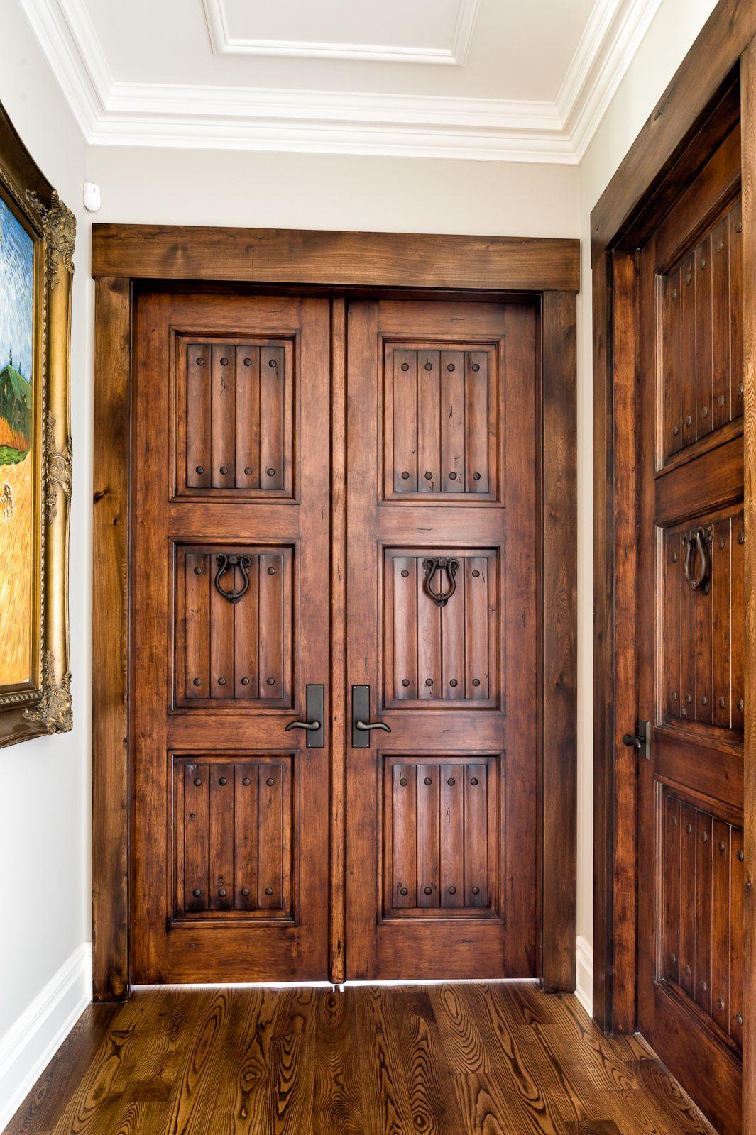 solid wood door Tubac pair