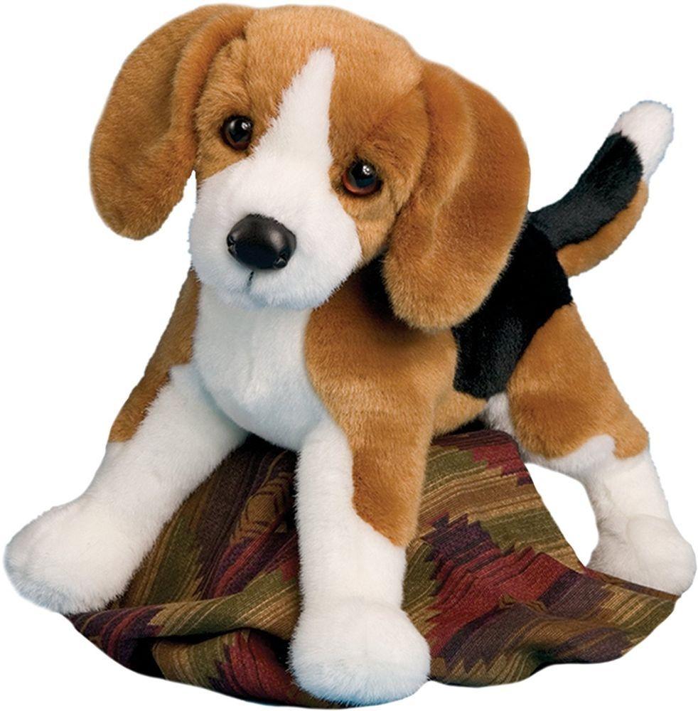 """Douglas 14"""" Bernie Beagle Plush Stuffed Black White Brown"""