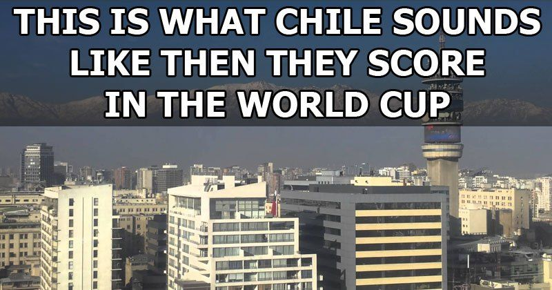 When Chile scored their second goal of the game against former World Champions Spain, the city of Santiago, Chile's largest city and capital, understandably went nuts. This is what it sounded like when Charles Aránguiz scored in the 43rd minute. The final score would remain 2-0, solidifying Chile's ticket to the next round and…