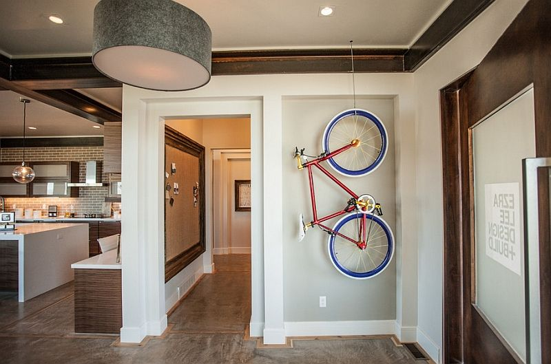 Storage For Small Places Part - 15: Creative Bike Storage U0026 Display Ideas For Small Spaces