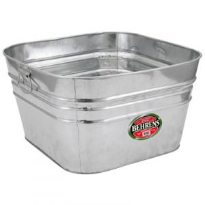 Square Hot Dipped Steel Tub Bathroom Galvanized Tub
