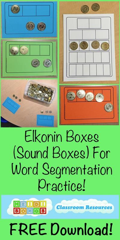 Teaching Phoneme Segmentation Separating Sounds in Words (Freebies