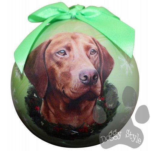 Vizsla Shatterproof Dog Breed Christmas Ornament | Dog breeds ...