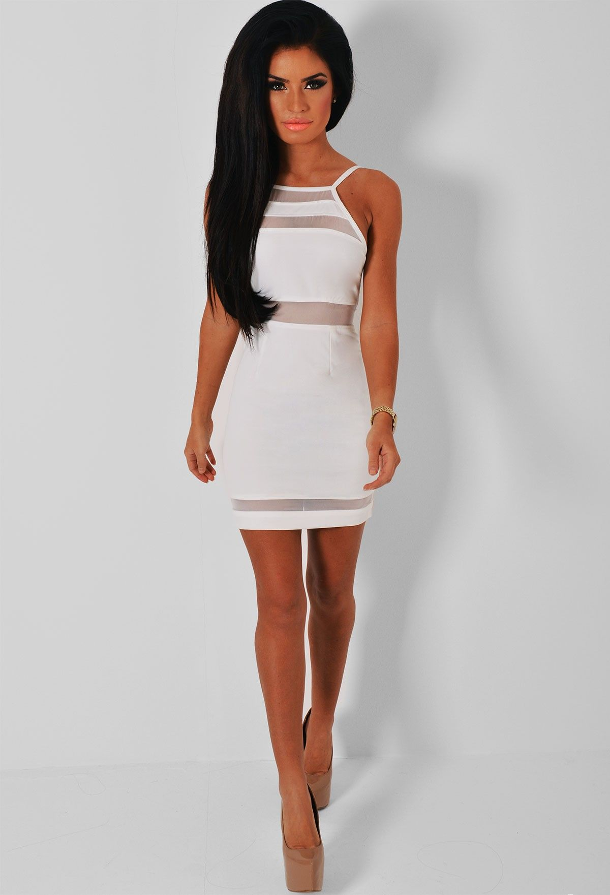 Zelie White Cut Out Mesh Mini Dress  Women&39s Fashion that I love ...