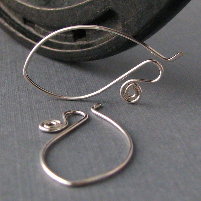 Interchangeable Silver Filled Ear Wires, Long Spiral Elfaerie ...
