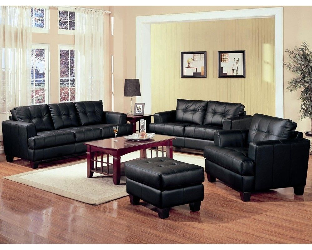Living Room Designs With Black Leather Furniture  Httpclub Magnificent Black Leather Living Room Furniture Review