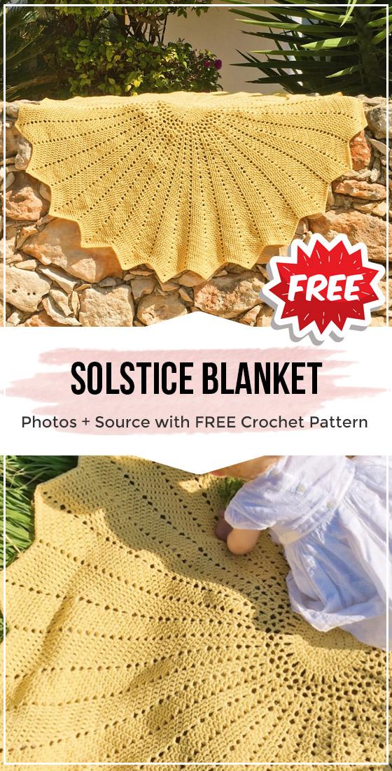 crochet Solstice Blanket free pattern #babyblanket
