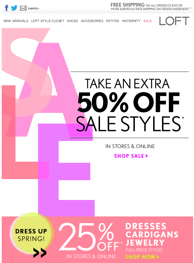Pretty Pinks Clothing Sale Poster Maternity Sale Email Design