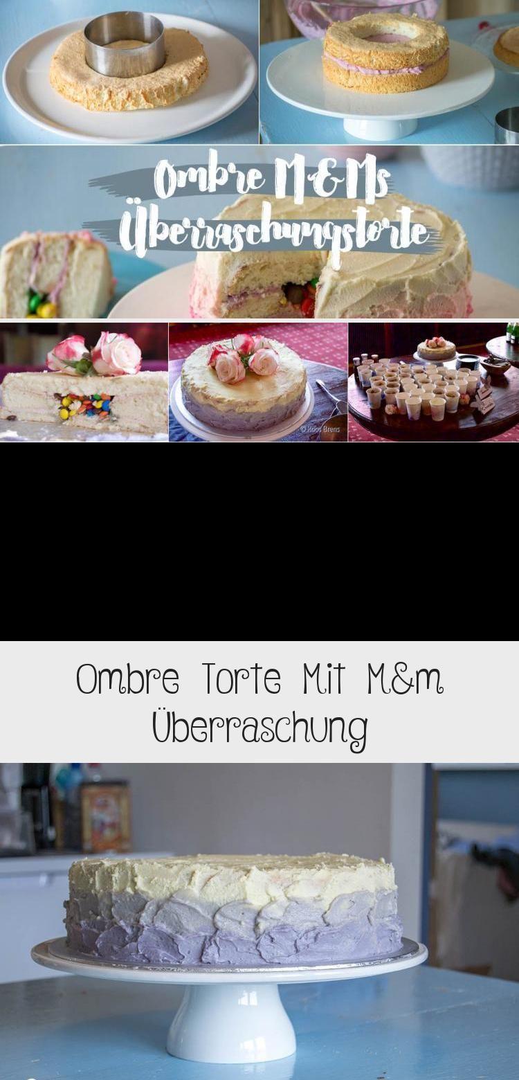 Photo of Ombre Torte mit M&M Füllung Smarties innen drin Kreativfieber Geburtstagstorte …