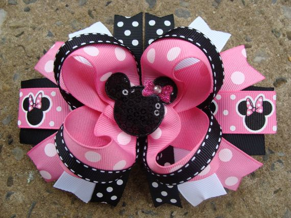 "Thank you for looking.  This Listing is for ONE hair bow.  This Set is perfect for every little princess.  The bows measure about 4.5-5"" wide and"