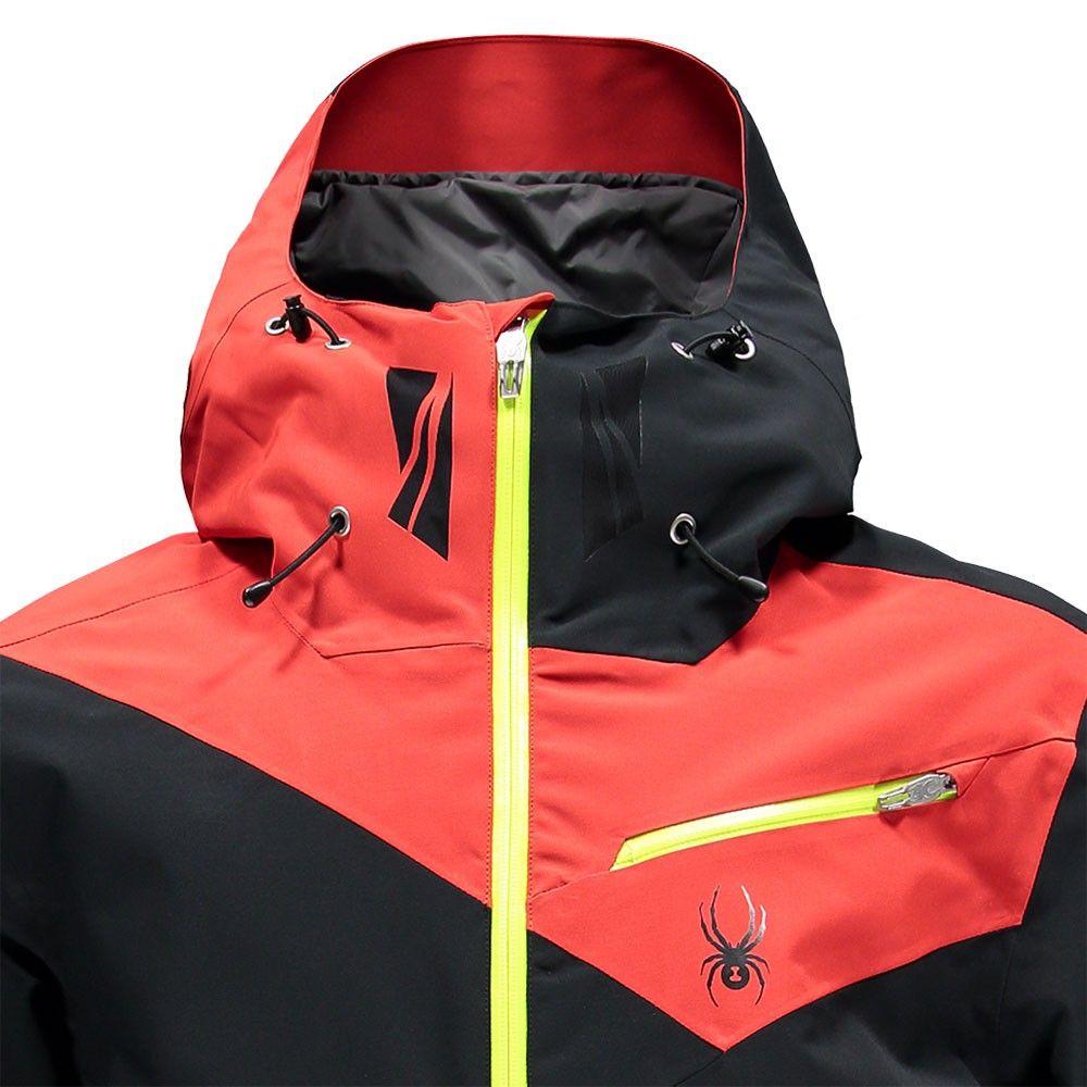 044fcc156e7ccc Spyder Enforcer Jacket Herren Skijacke schwarz rot grün – Bild 3  spyder   skibekleidung  outlet  sporthausmarquardt