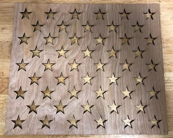 USA Flag / 50 star's stencil / wooden stencil / union stencil /0.5'' / 0.75'' / 1'' / 1.25''