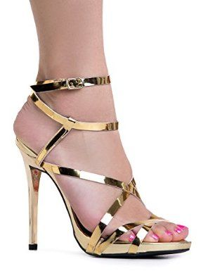 db2dcb66f73aa Amazon.com | Women's Ankle Strap High Heel Sandals | Dress, Wedding ...