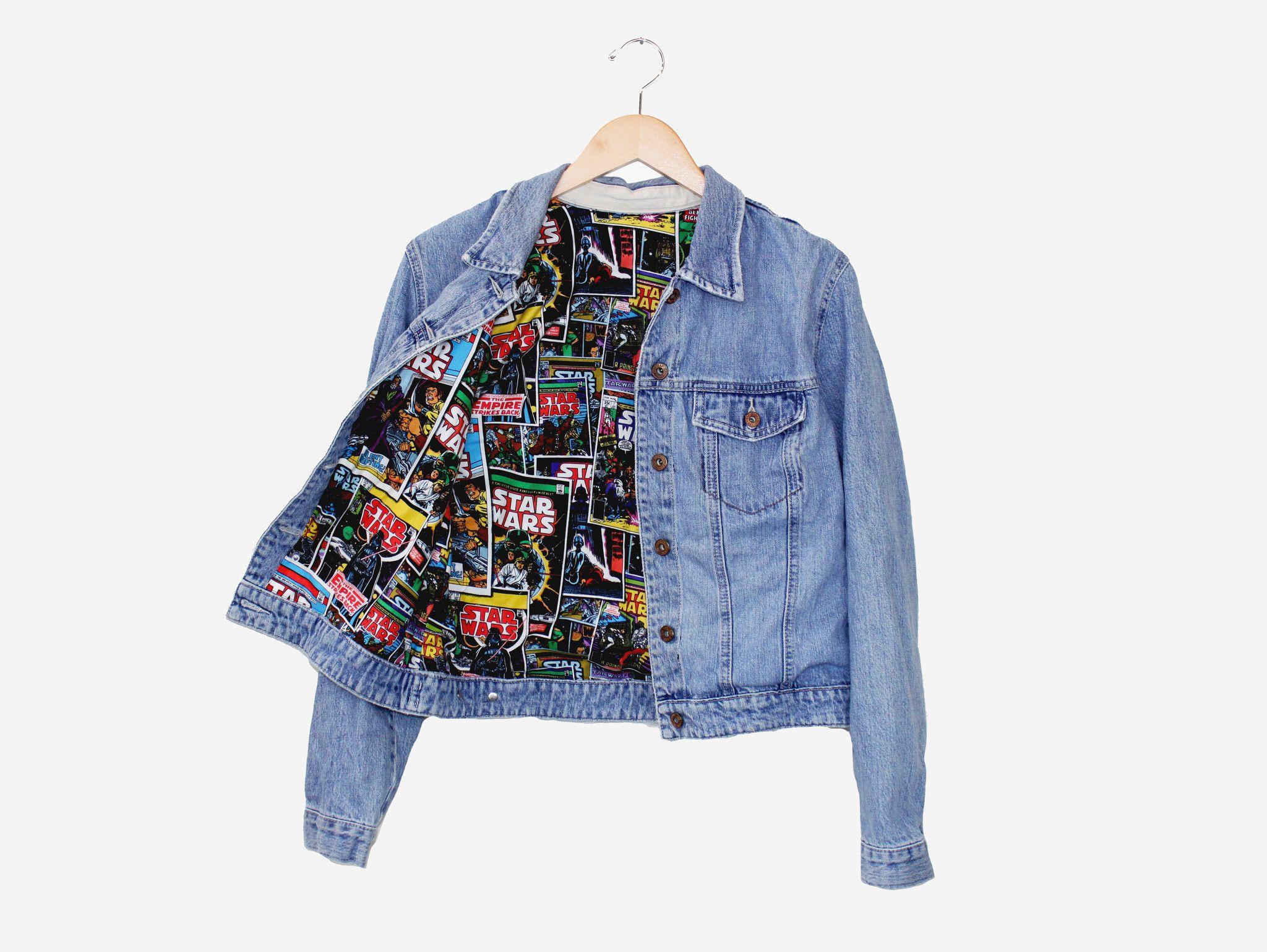 Star Wars Lined Denim Jacket | Lined denim jacket, Vintage