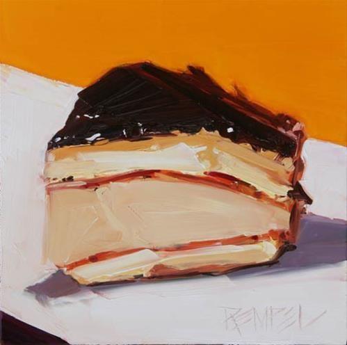Tiramisu Cake Original Fine Art for Sale Kim Rempel Artists