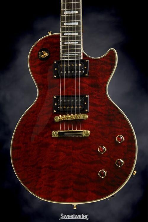 Epiphone Prophecy Les Paul Custom Plus Gx Black Cherry Epiphone Les Paul Custom Guitar