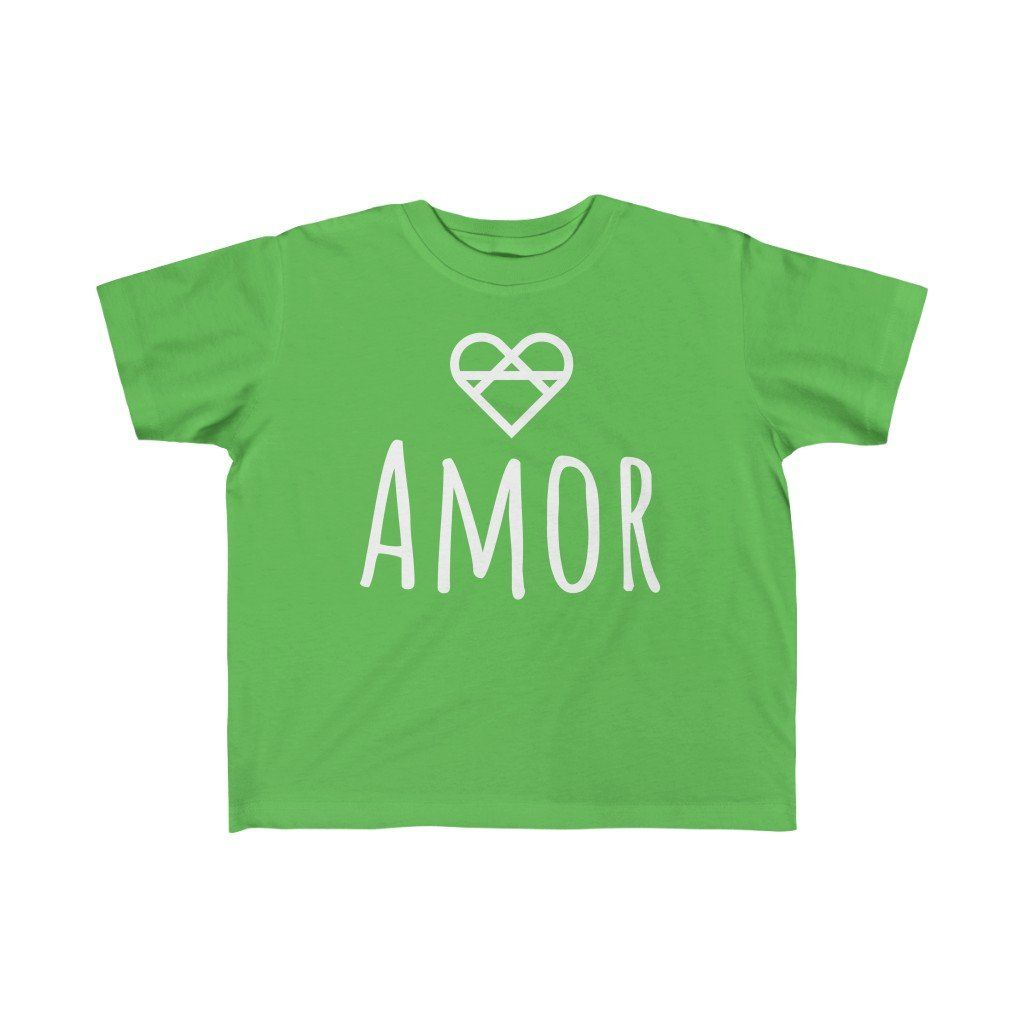 Product Details: This premium toddler's love infused t-shirt was created with one simple idea that comes straight from our heart, spread love! Whether it be the comfortable fabric, high-quality design, or lovely message, we have created this toddler's t-shirt with love in mind, and we know that a toddler will love wearing it. This comfortable and durable t-shirt, will quickly become a toddler's favorite and is a definite must-own! 100% cotton material & tear away label Soft, durable, and lon