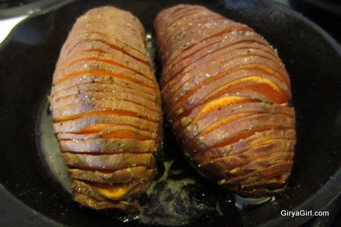 Simple Hasselback Style Baked Sweet Potatoes - Primal and EASY