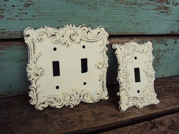 Vintage French Chic Light Switch Plate By Primitivepincushion