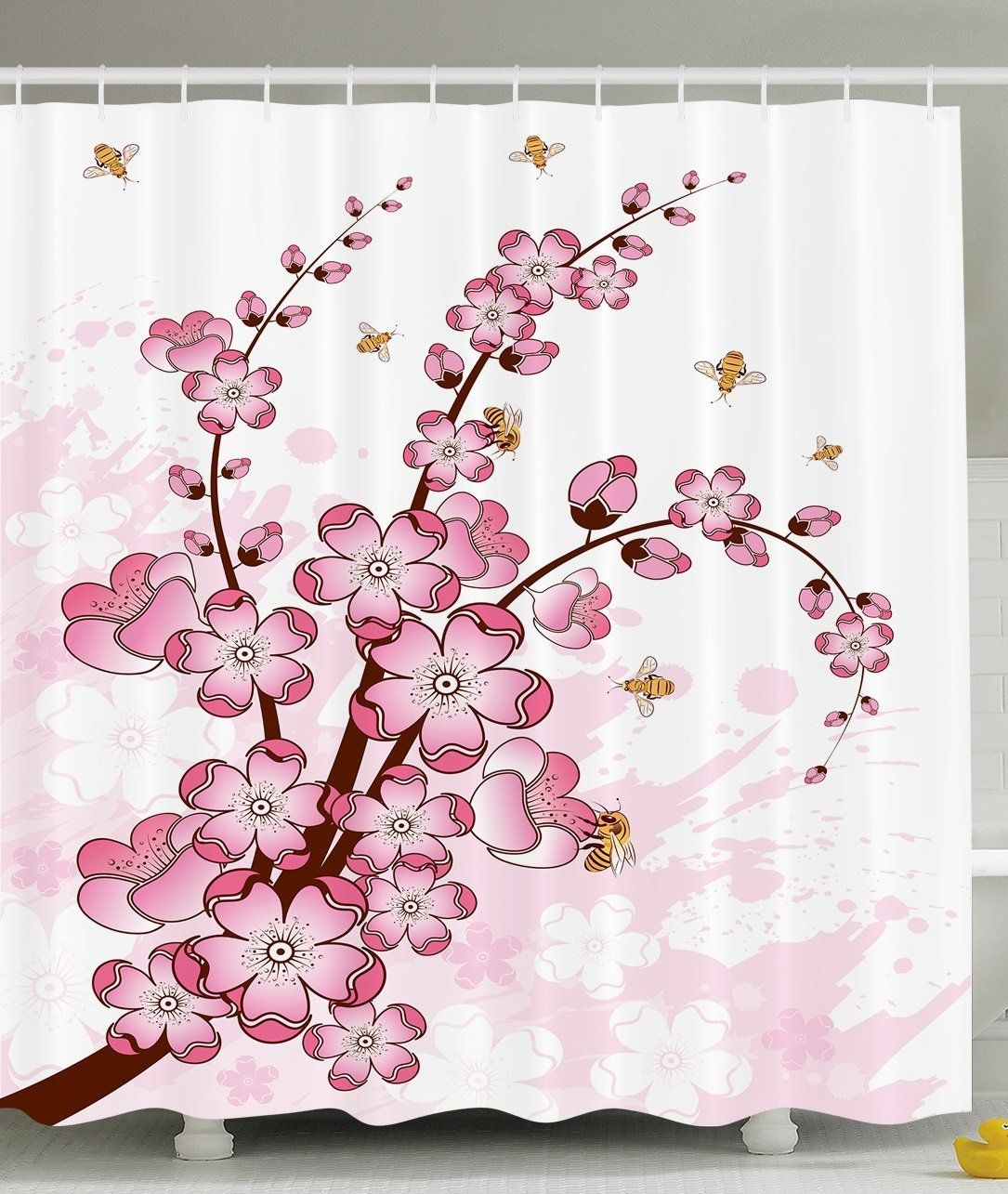 Pretty Cherry Blossom Shower Curtain Cool Shower Curtains Shower Curtain Decor Shower Curtain