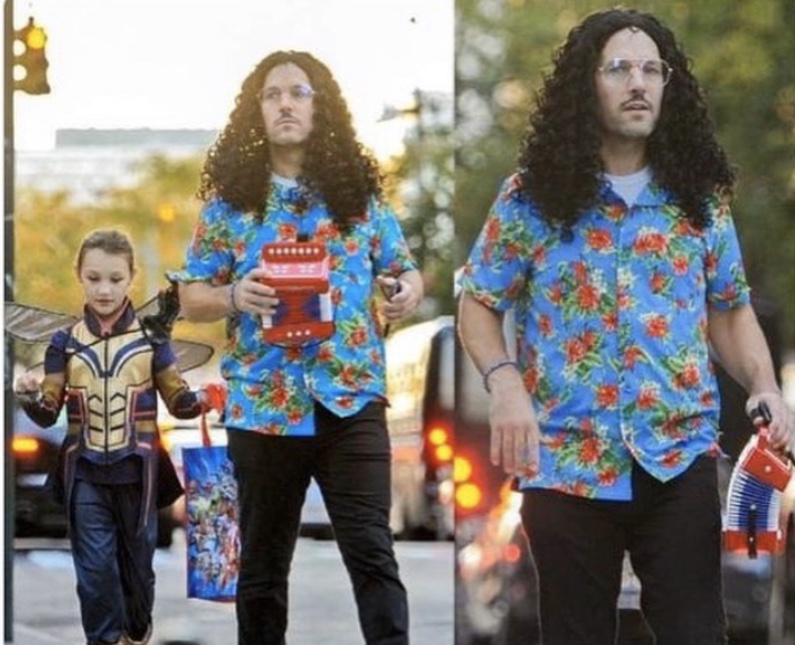 Paul Rudds Daughter Dressed As The Wasp And He Dressed As Weird Al Yankovichttps I Redd It 41rjtvwrtsv31 Png Paul Rudd Celebrity Halloween Costumes Rudd