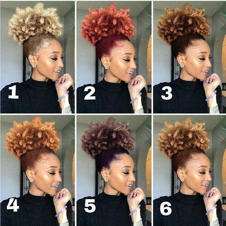 App To Try Hairstyles: High Puff Goals Which Color Is You Favorite? : @modelesque