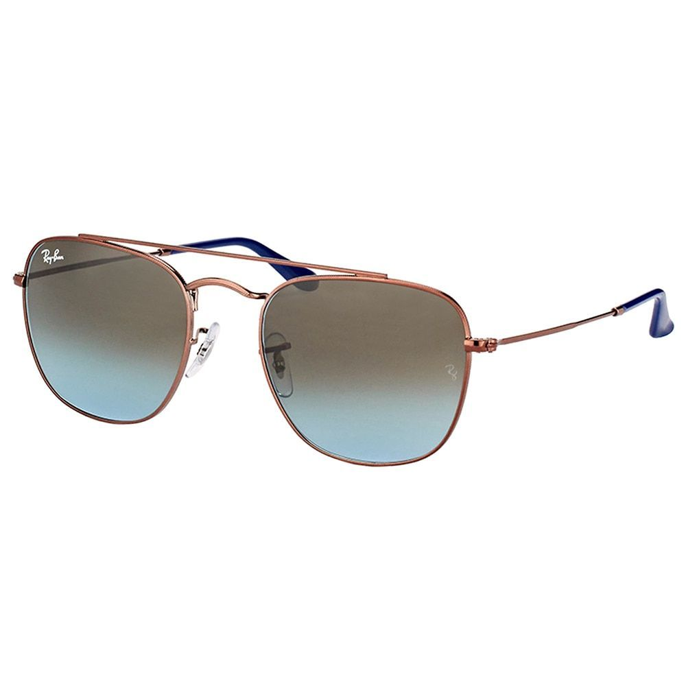 Ray-Ban RB 3557 900396 Dark Bronze Square Sunglasses with Blue Gradient Lens